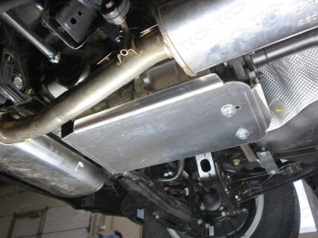 Kia Sportage 2016 (двг. 2.0, полный привод) Защита заднего редуктора (алюминий) 4 мм